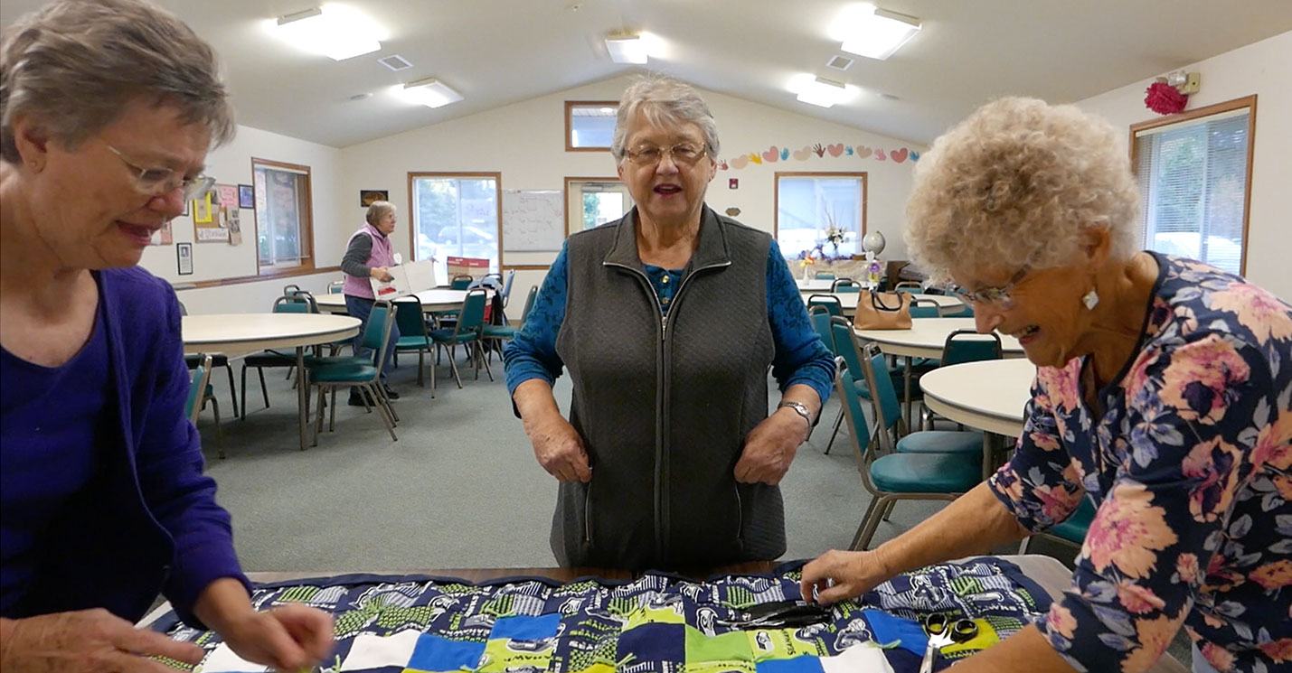 Wednesday morning quilters at Faith Lutheran Church