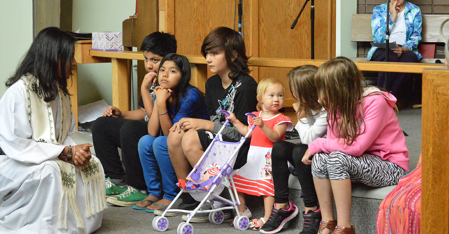 Special children's message at Faith Lutheran Church